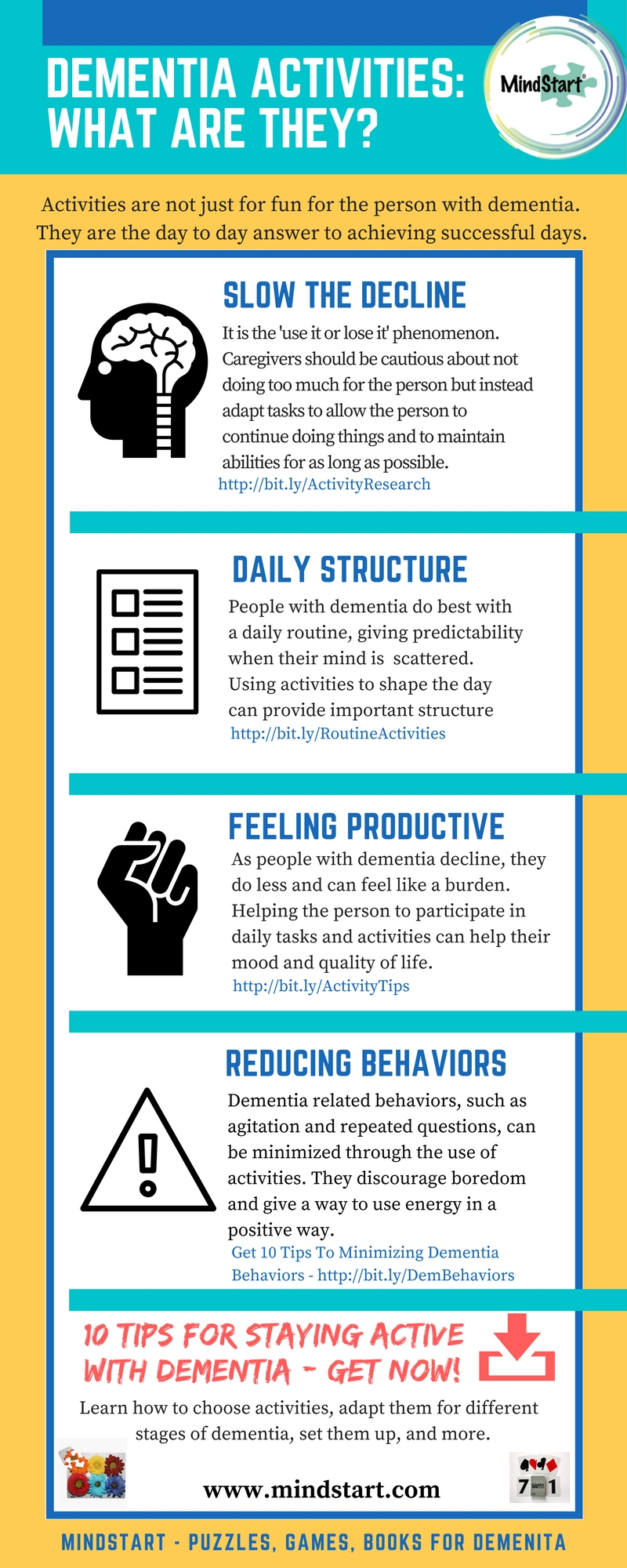 dementia activities infographic