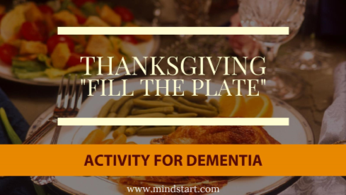 Thanksgiving Activity for Alzheimers Dementia