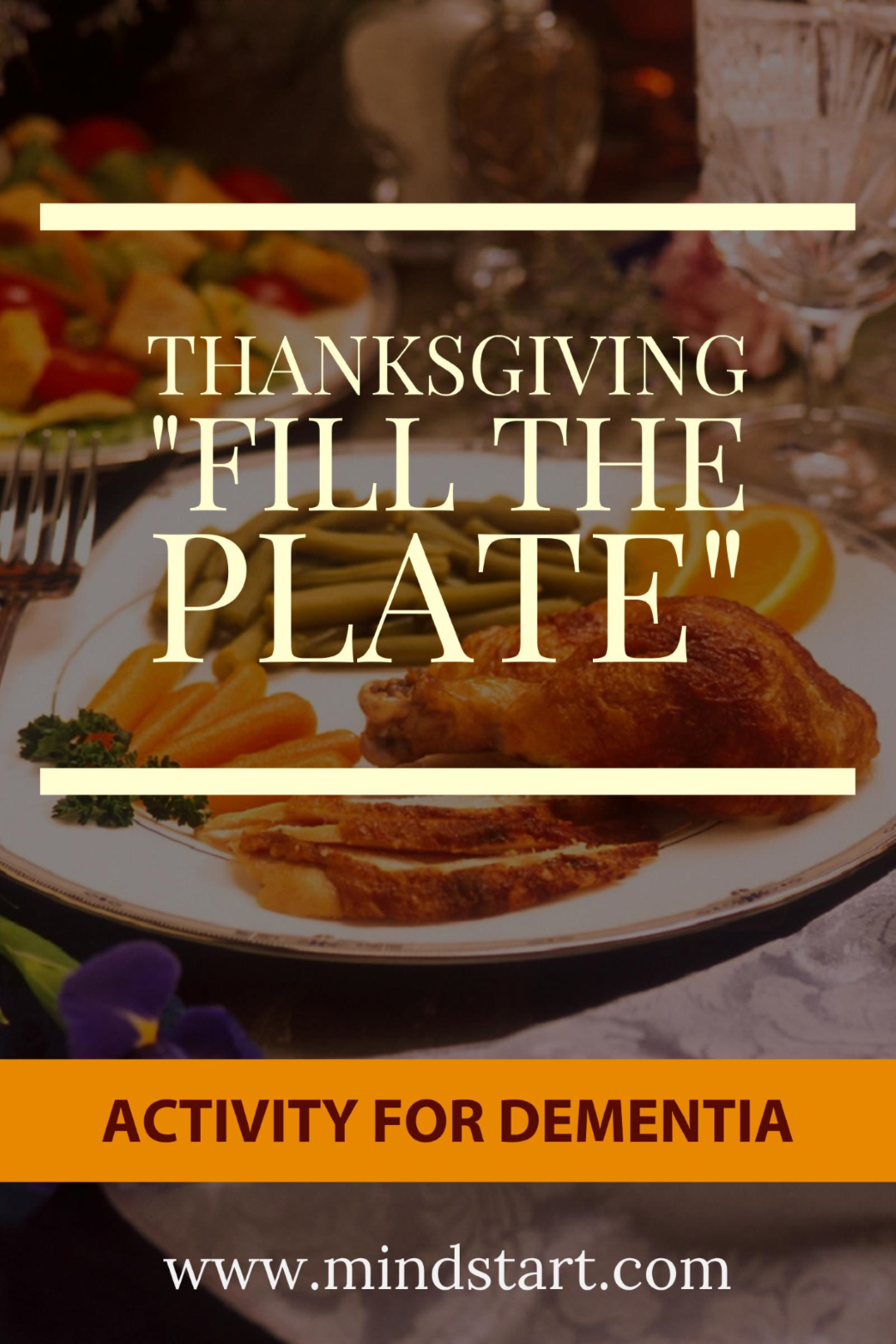Thanksgiving activity for Alzheimer dementia