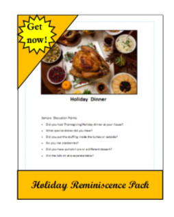 holiday activities for dementia care