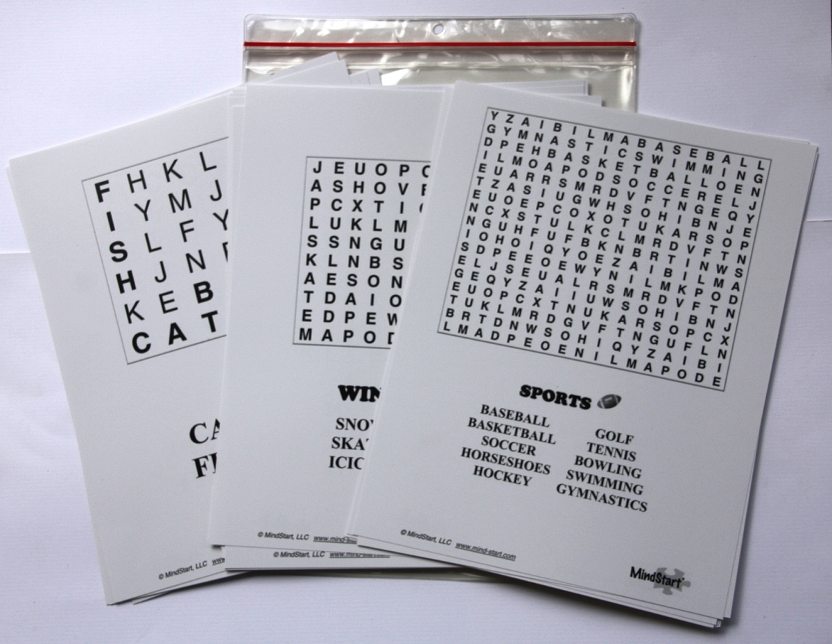 Word search for dementia