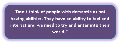 Patients with Dementia have abilities